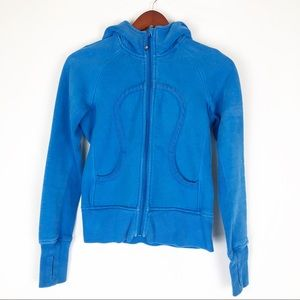 Lululemon scuba hoodie. Size 4 teal light blue